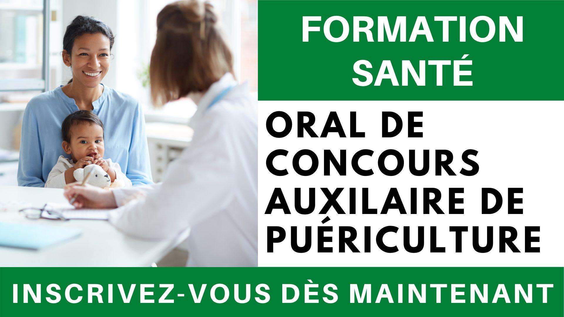 Formation sante - Oral concours AP